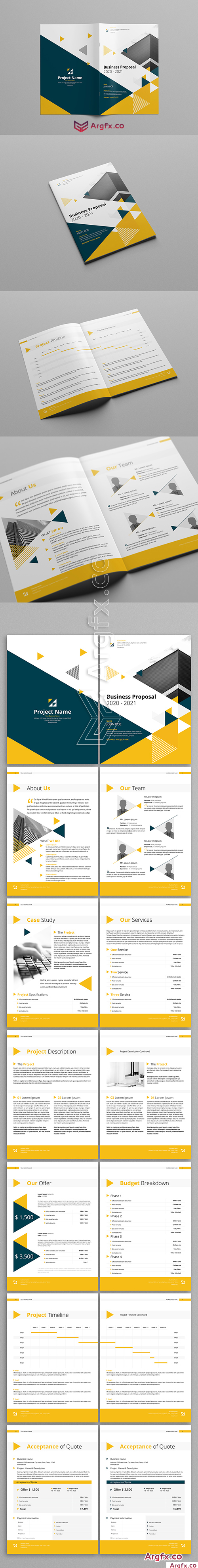 Yellow And Gray Booklet Layout 205399121