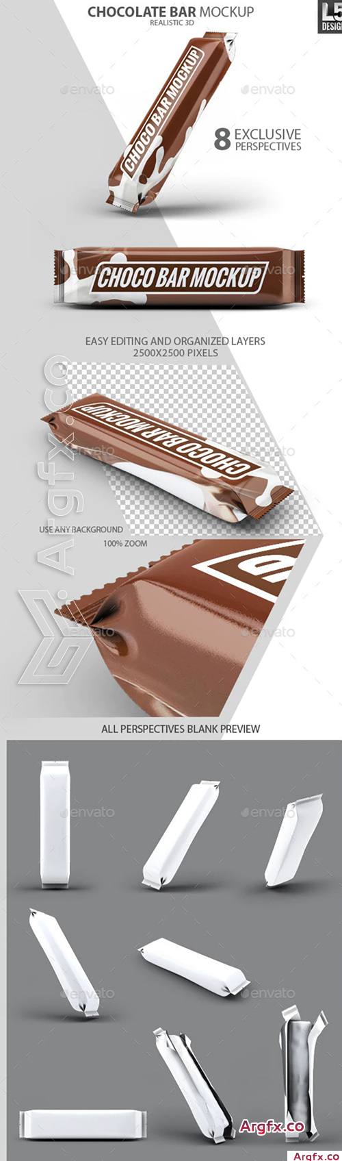 GraphicRiver - Chocolate Bar Mock-Up 10337035
