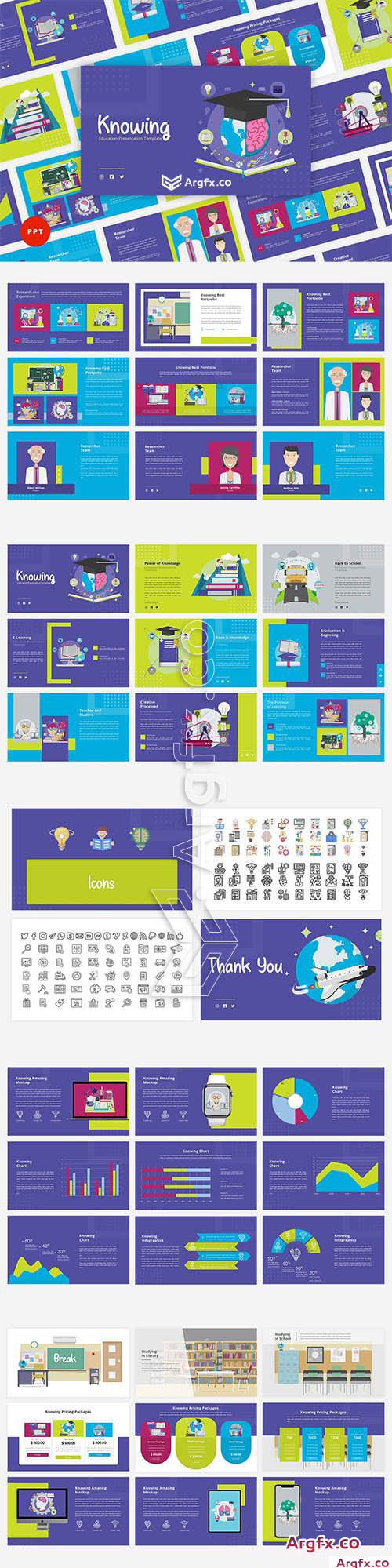 Knowing - Education Powerpoint,Keynote and Google Slides Template
